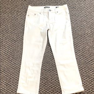 MEK DNM USA white cropped jeans, NWOT